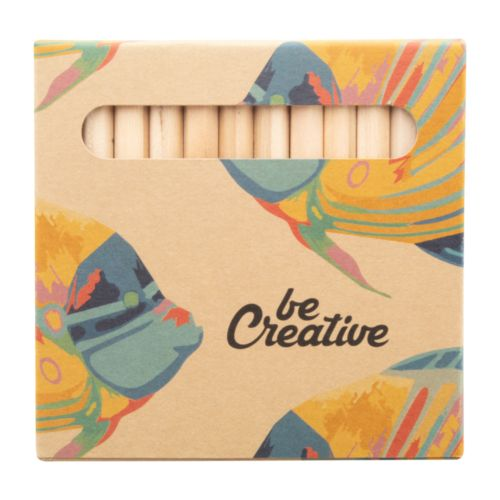 Set de 12 crayons personnalisés