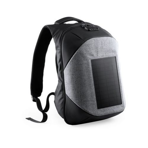 """15"""" laptop and 10"""" tablet backpack, solar charger"""
