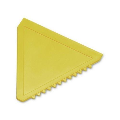 Triangular ice scraper