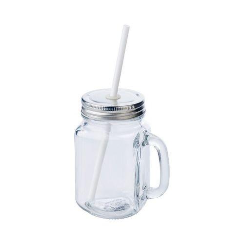 Drinking jar 480 ml with straw