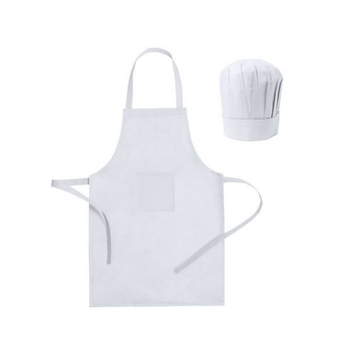 Cook set, kitchen apron with cook cap, children size