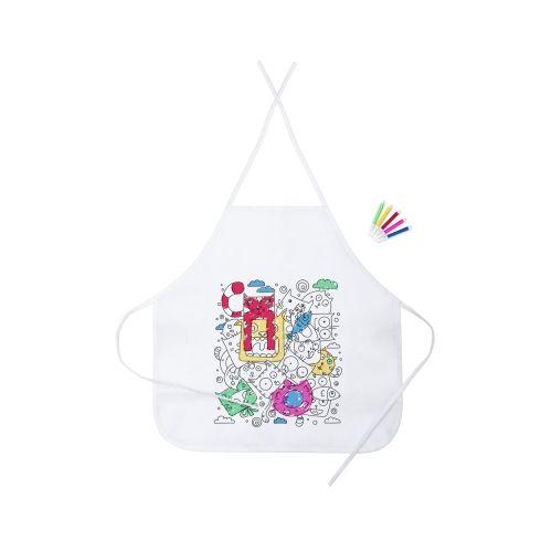 Kitchen apron for colouring, felt tip pens