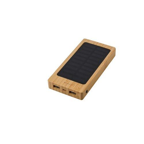 Bamboo power bank 8000 mAh, solar charger