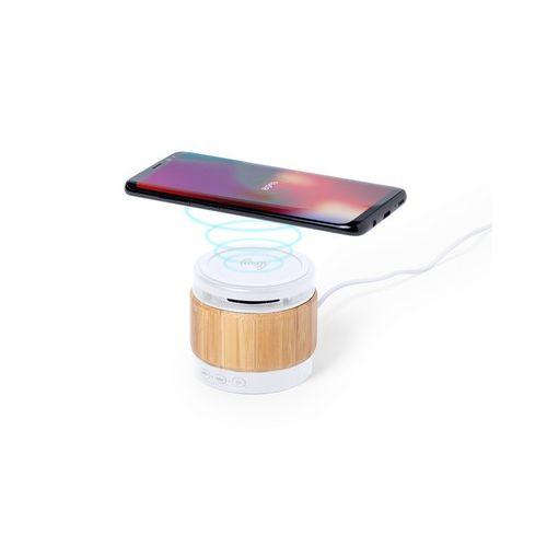 Bamboo wireless speaker 3W, wireless charger 5W