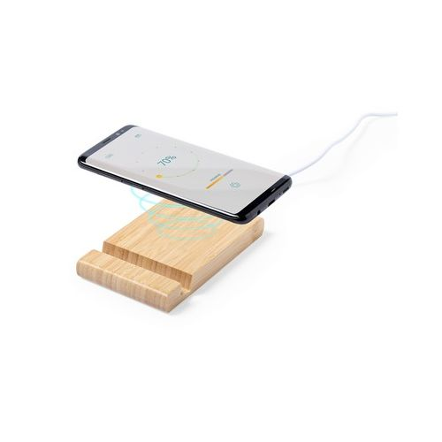 Bamboo wireless charger 5W, phone stand, tablet stand