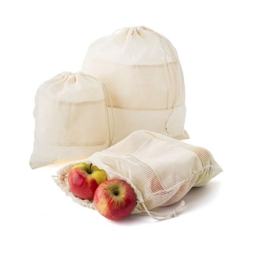 Organic cotton bag for fruits and vegetables, 3 pcs