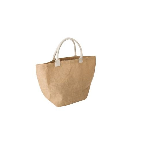 Jute shopping bag with cotton handles