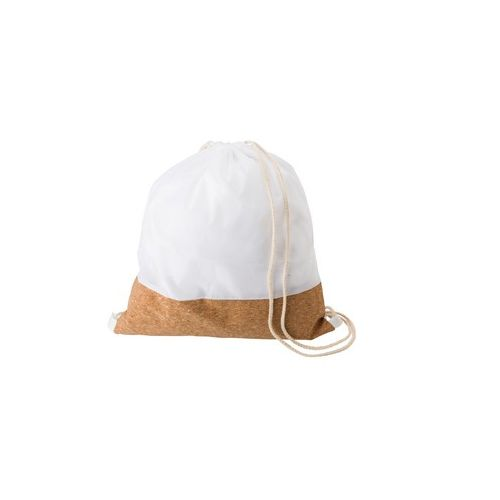RPET and cork drawstring bag with cotton drawstrings