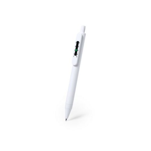 Antibacterial ball pen with thermometer