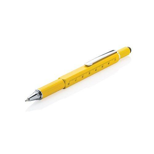 Multifunctional ball pen, ruler, spirit level, screwdriver, touch pen