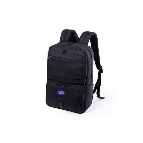 """15"""" laptop and 10"""" tablet backpack, UV-C sterilizer"""