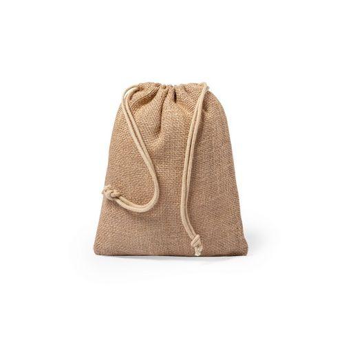 Small jute drawstring bag