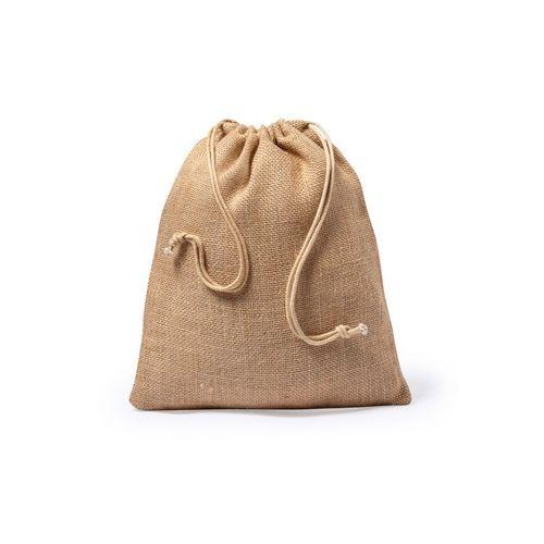 Big jute drawstring bag
