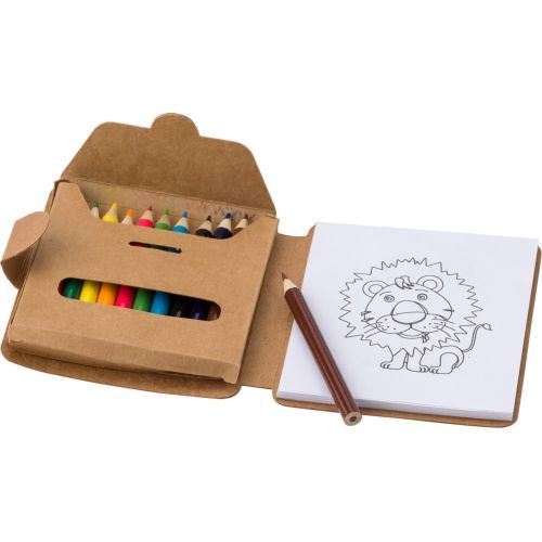 Colouring set, coloured pencils