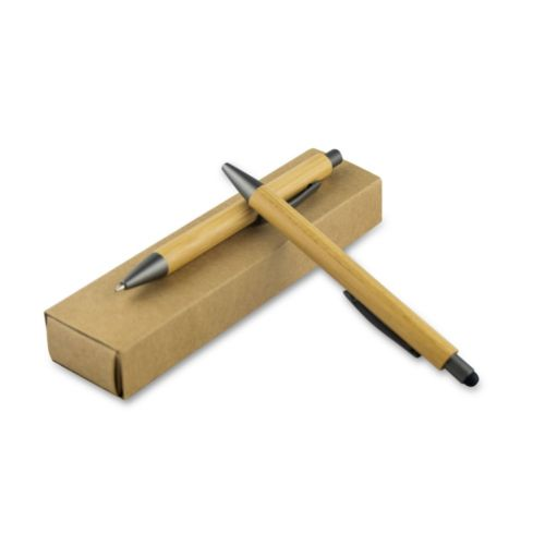 Writing set, bamboo ball pen with touch pen and mechanical pencil