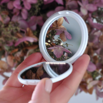 Miroir de poche pliable