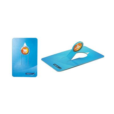 Jeton de caddie format carte de crédit