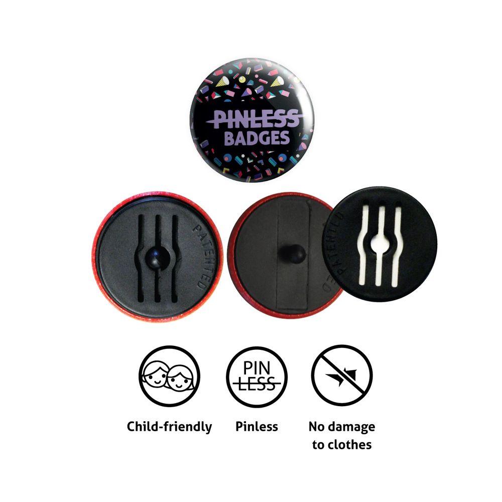 Pinless badge 25/32mm)