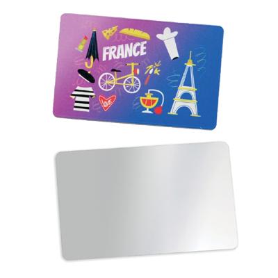 Mirroir de poche format carte de crédit