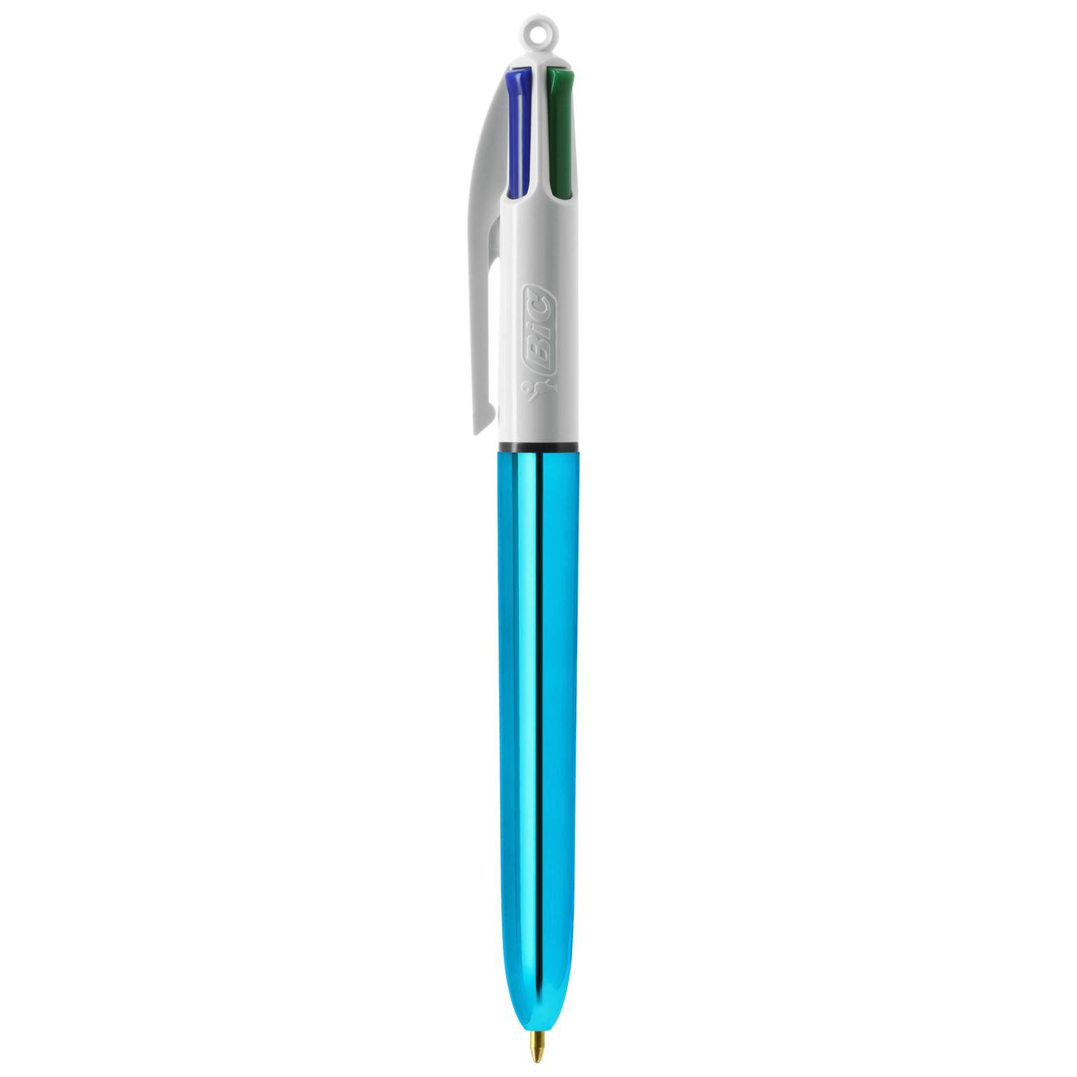 BIC® 4 Colours Shine bille + Lanyard