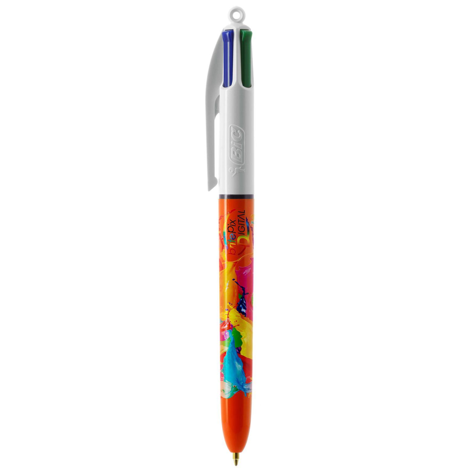 BIC® 4 Colours Fine bille + Lanyard - ISOCOM - OBJETS ET TEXTILES PERSONNALISES - NANTES