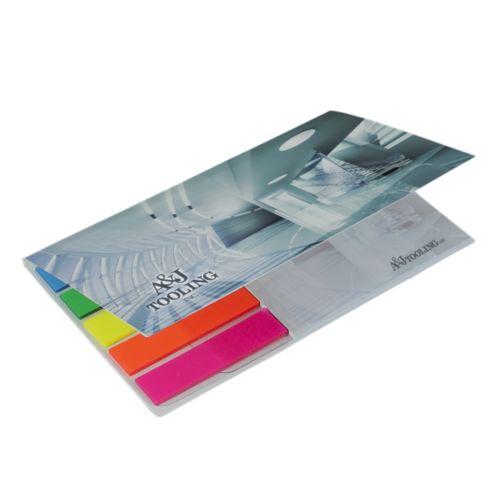 BIC® 75 mm x 75 mm Adhesive Notepad ja  Flag Booklet -liimalappulehtiö