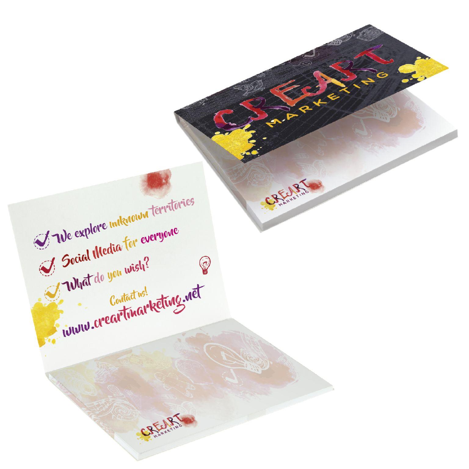 BIC® 101 mm x 75 mm 50 sivua Booklet liimalappulehtiö
