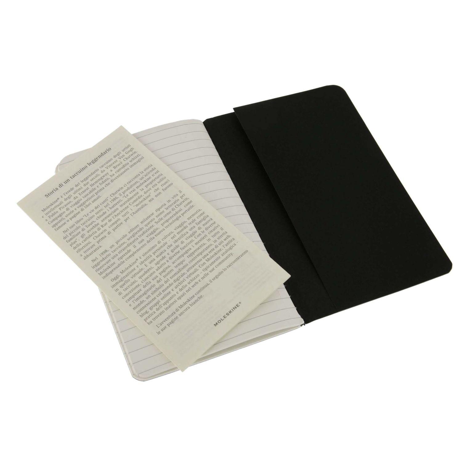 MOLESKINE® | Cahier de poche noir avec papier à rayures