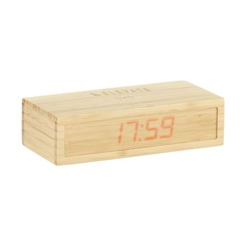 Bamboo Alarm Clock with Wireless Charger chargeur