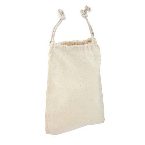 Draw string pouch - Large poche en coton naturel