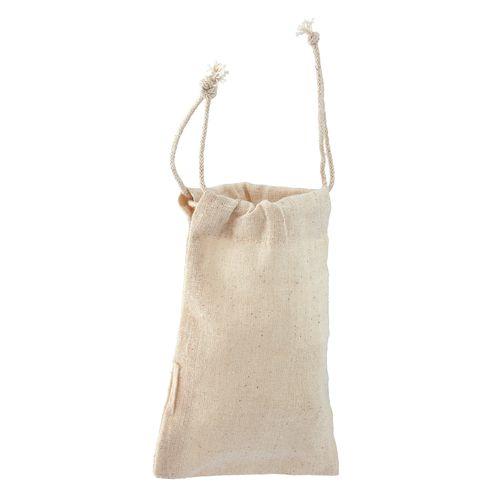 Draw string pouch - Small poche en coton naturel