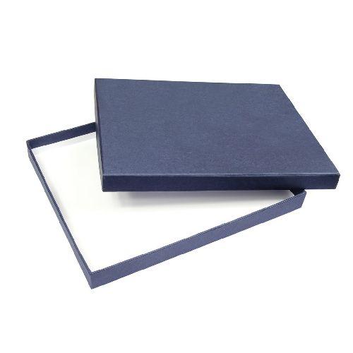 BOITE BLEUE-INTERIEUR BLANC 260X210X25