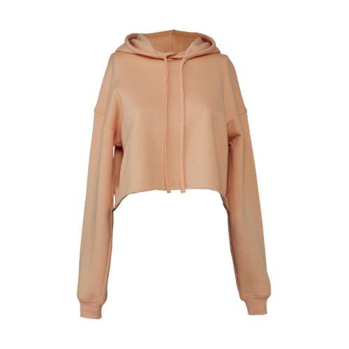 Women`s Cropped Fleece Hoodie