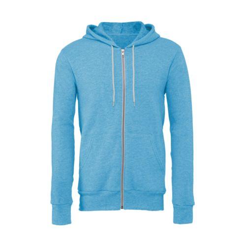 Unisex Poly-Cotton Full Zip Hoodie