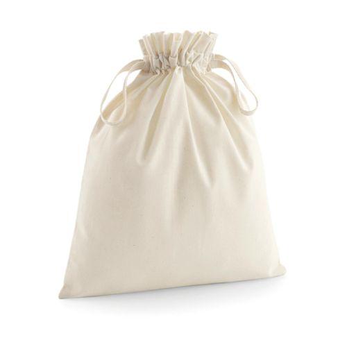 Organic Cotton Drawcord Bag Objet Media Publicitaire