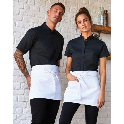Tailored Fit Mandarin Collar Shirt SSL Fashion Goodiz goodies objet personnalisé cadeaux d affaire objets publicitaires