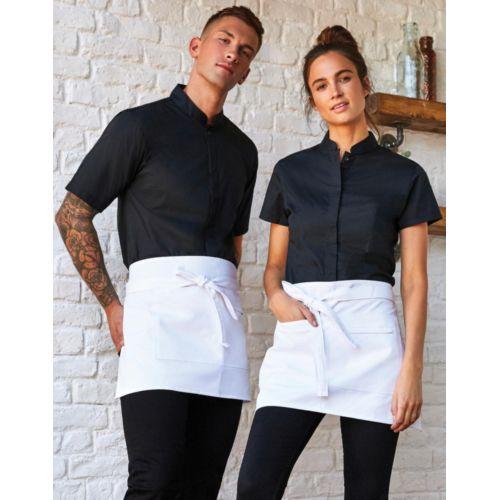 Women`s Tailored Fit Mandarin Collar SSL Fashion Goodiz goodies objet personnalisé cadeaux d affaire objets publicitaires