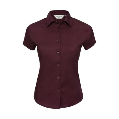 Fitted Short Sleeve Blouse