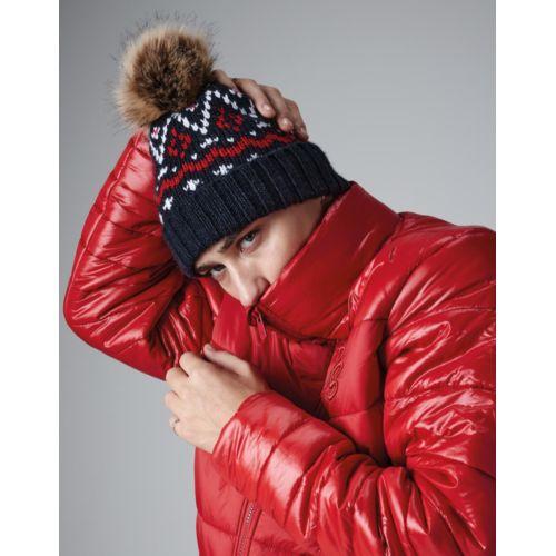Fair isle Faux Fur Pop Pom Beanie Fashion Goodiz goodies objet personnalisé cadeaux d affaire objets publicitaires