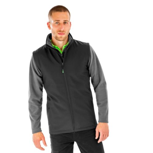 Men`s Recycled 2-Layer Printable Softshell B/W