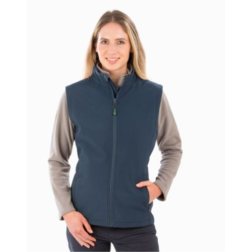 Women`s Recycled 2-Layer Printable Softshell B/W