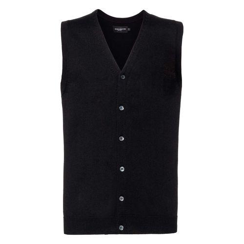Men's V-Neck Sleeveless Knitted Cardigan
