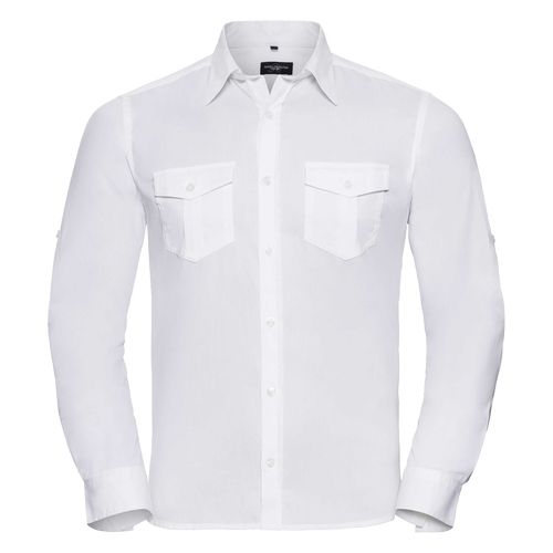Men's Roll Long Sleeve Fitted Twill Shirt