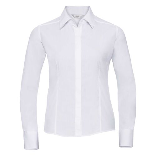 Ladies' Long Sleeve Fitted Polycotton Poplin Shirt