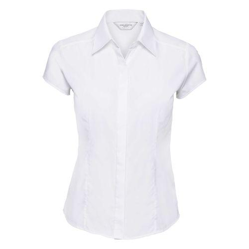 Ladies' Cap Sleeve Fitted Polycotton Poplin Shirt
