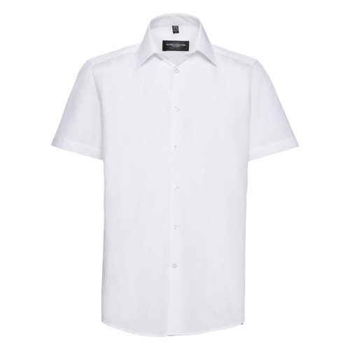 Men's Short Sleeve Tailored Polycotton Poplin Shirt