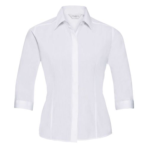 Ladies' 3/4 SleeveFitted Polycotton Poplin Shirt