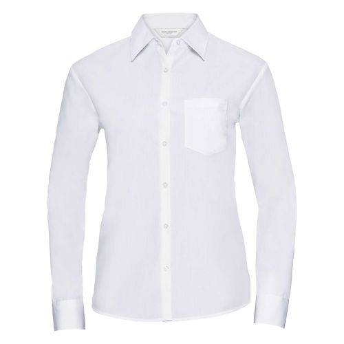 Ladies' Long Sleeve Classic Polycotton Poplin Shirt