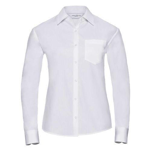 Ladies' Long Sleeve Classic Pure Cotton Poplin Shirt