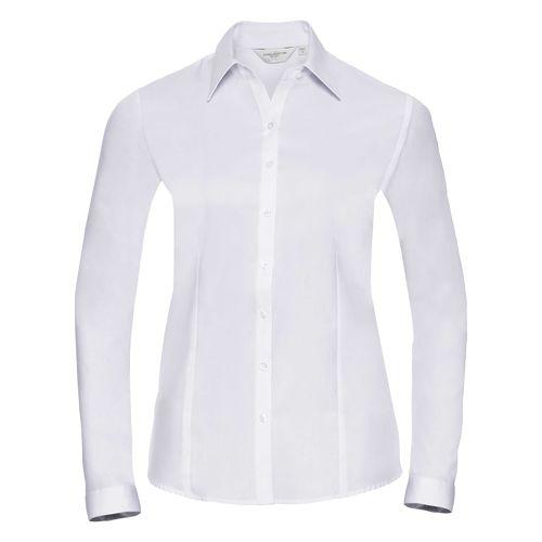 Ladies' Long Sleeve Tailored Herringbone Shirt